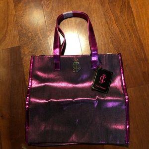 Metallic hot pink juicy couture tote bag